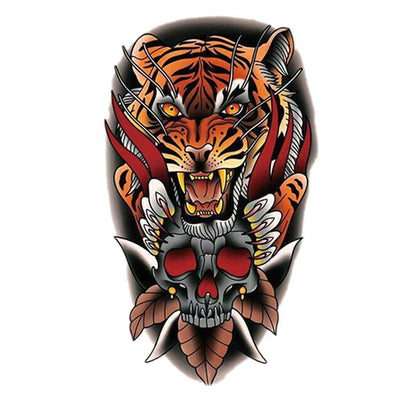 Old School Tigre art FIT ME TATTOO Fit Me Tattoo, tatouage éphémère, tatouage temporaire