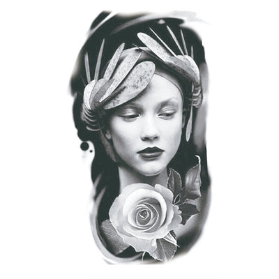 Pin Up Rose art FIT ME TATTOO Fit Me Tattoo, tatouage éphémère, tatouage temporaire