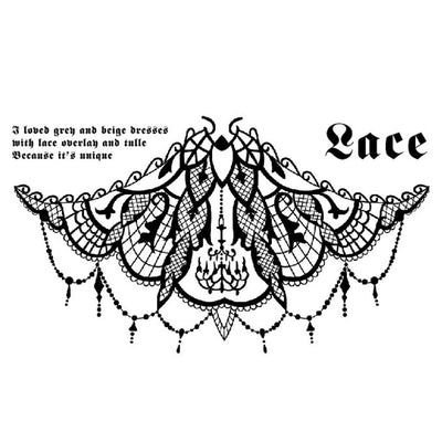 Lace féminin FIT ME TATTOO Fit Me Tattoo, tatouage éphémère, tatouage temporaire