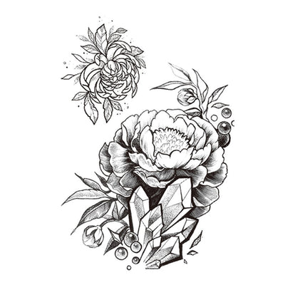 Cristal Pivoine nature FIT ME TATTOO Fit Me Tattoo, tatouage éphémère, tatouage temporaire