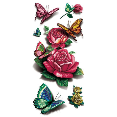 Rose Papillon nature FIT ME TATTOO Fit Me Tattoo, tatouage éphémère, tatouage temporaire