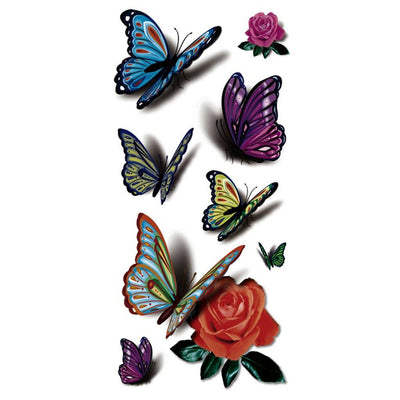 Papillon Rose nature FIT ME TATTOO Fit Me Tattoo, tatouage éphémère, tatouage temporaire
