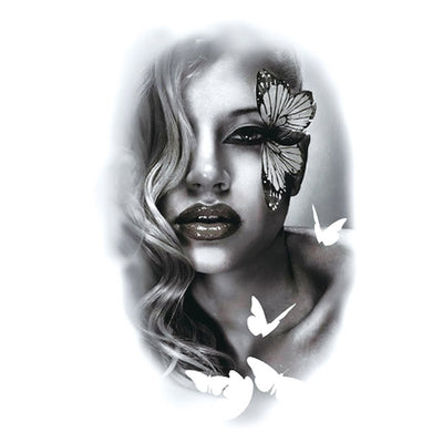Papillon Pin Up nature FIT ME TATTOO Fit Me Tattoo, tatouage éphémère, tatouage temporaire