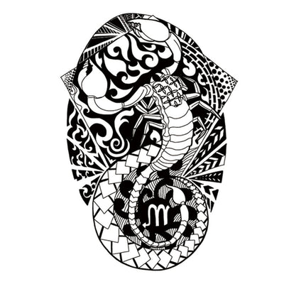 Scorpion Maori nature FIT ME TATTOO Fit Me Tattoo, tatouage éphémère, tatouage temporaire