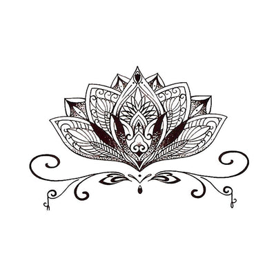 Mandala Lotus 2 nature FIT ME TATTOO Fit Me Tattoo, tatouage éphémère, tatouage temporaire