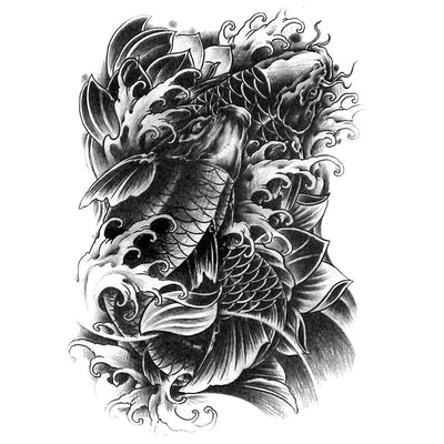 Carpe Koï nature FIT ME TATTOO Fit Me Tattoo, tatouage éphémère, tatouage temporaire
