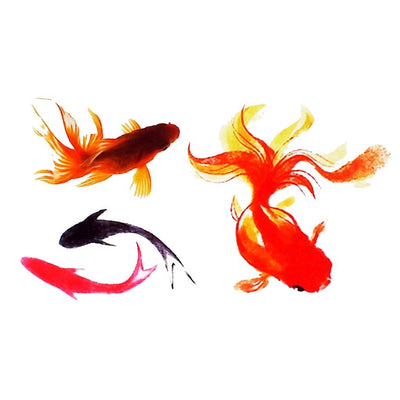 Poissons Rouges nature FIT ME TATTOO Fit Me Tattoo, tatouage éphémère, tatouage temporaire