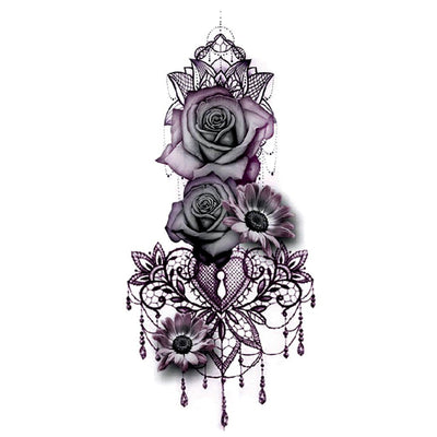 Rose Bouquet nature FIT ME TATTOO Fit Me Tattoo, tatouage éphémère, tatouage temporaire