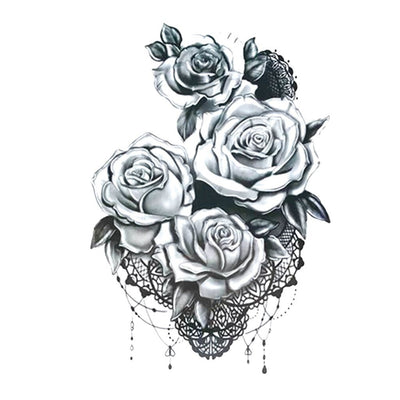 Rose Dentelle univers FIT ME TATTOO Fit Me Tattoo, tatouage éphémère, tatouage temporaire