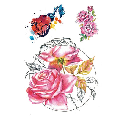 Rose Graphique nature FIT ME TATTOO Fit Me Tattoo, tatouage éphémère, tatouage temporaire