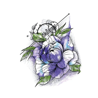Rose Violette nature FIT ME TATTOO Fit Me Tattoo, tatouage éphémère, tatouage temporaire