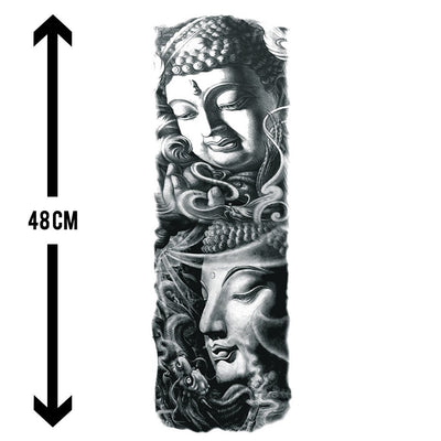 Esprit Bouddha sleeve FIT ME TATTOO Fit Me Tattoo, tatouage éphémère, tatouage temporaire