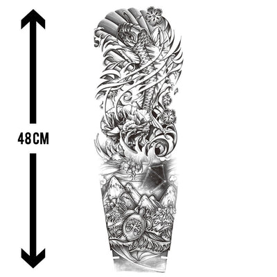 Carpe Koï Royale sleeve FIT ME TATTOO Fit Me Tattoo, tatouage éphémère, tatouage temporaire