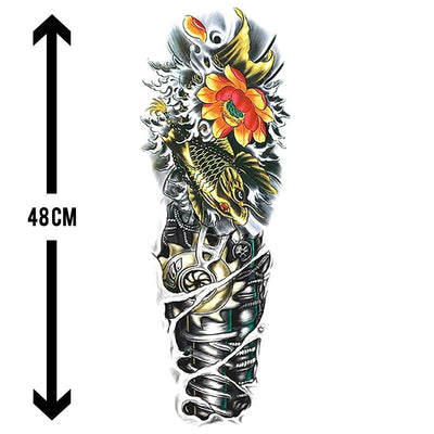 Carpe Mécanique sleeve FIT ME TATTOO Fit Me Tattoo, tatouage éphémère, tatouage temporaire