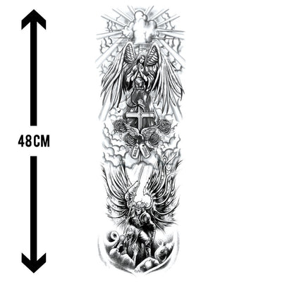 Amour du Templier sleeve FIT ME TATTOO Fit Me Tattoo, tatouage éphémère, tatouage temporaire