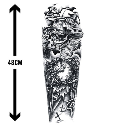 Death Wish sleeve FIT ME TATTOO Fit Me Tattoo, tatouage éphémère, tatouage temporaire