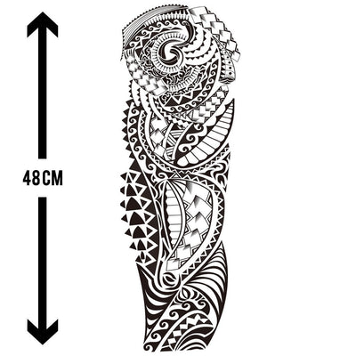 Gardien Maori sleeve FIT ME TATTOO Fit Me Tattoo, tatouage éphémère, tatouage temporaire