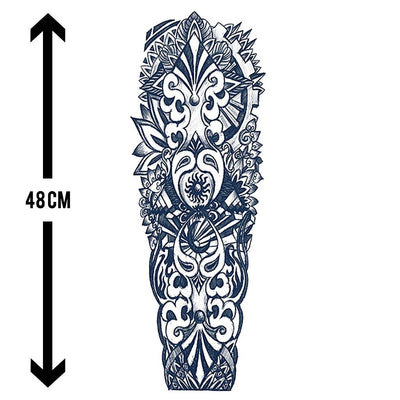 Guerrier des îles sleeve FIT ME TATTOO Fit Me Tattoo, tatouage éphémère, tatouage temporaire