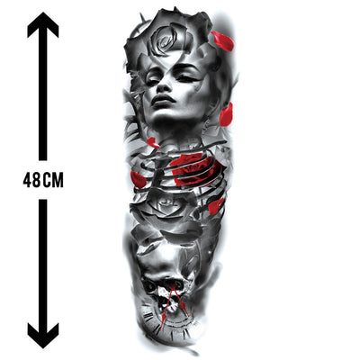 Amour Passion sleeve FIT ME TATTOO Fit Me Tattoo, tatouage éphémère, tatouage temporaire