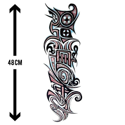 Gardien Tribal sleeve FIT ME TATTOO Fit Me Tattoo, tatouage éphémère, tatouage temporaire