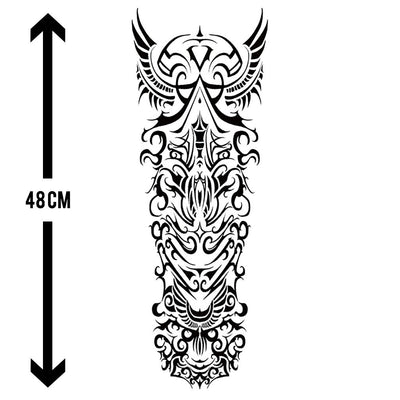 Âme Tribale sleeve FIT ME TATTOO Fit Me Tattoo, tatouage éphémère, tatouage temporaire