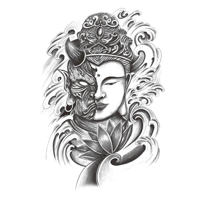 Démon Bouddha spirituel FIT ME TATTOO Fit Me Tattoo, tatouage éphémère, tatouage temporaire