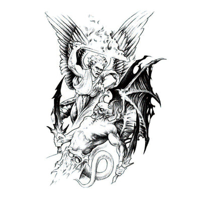 Demon Chevalier spirituel FIT ME TATTOO Fit Me Tattoo, tatouage éphémère, tatouage temporaire