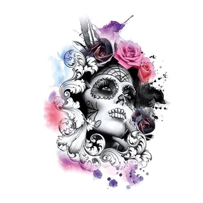 Calavera Diva spirituel FIT ME TATTOO Fit Me Tattoo, tatouage éphémère, tatouage temporaire