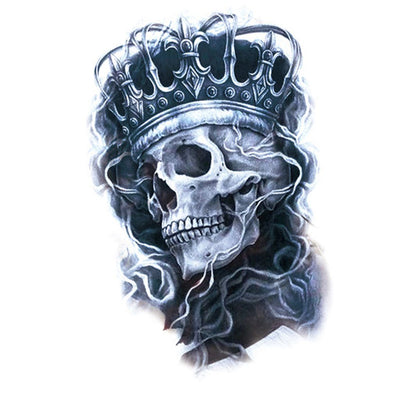 King Skull spirituel FIT ME TATTOO Fit Me Tattoo, tatouage éphémère, tatouage temporaire