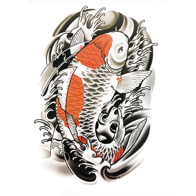 Carpes Japon animaux FIT ME TATTOO Fit Me Tattoo, tatouage éphémère, tatouage temporaire