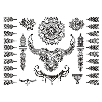 Mandala Oriental voyage FIT ME TATTOO Fit Me Tattoo, tatouage éphémère, tatouage temporaire