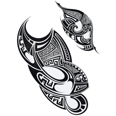 Ornement Maori voyage FIT ME TATTOO Fit Me Tattoo, tatouage éphémère, tatouage temporaire