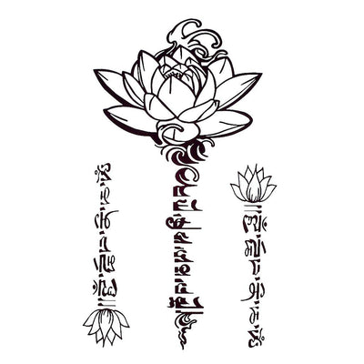 Lotus Thaï voyage FIT ME TATTOO Fit Me Tattoo, tatouage éphémère, tatouage temporaire