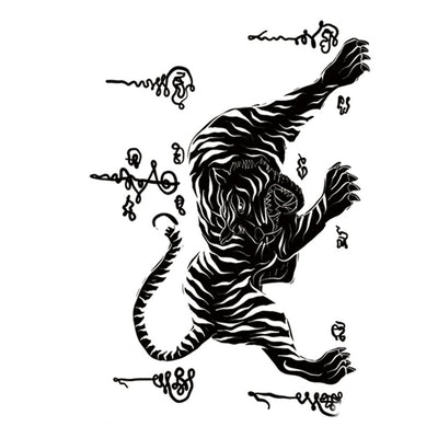 Thai Tigre voyage FIT ME TATTOO Fit Me Tattoo, tatouage éphémère, tatouage temporaire