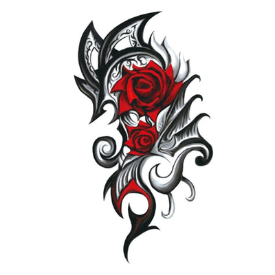 Rose Tribal univers FIT ME TATTOO Fit Me Tattoo, tatouage éphémère, tatouage temporaire