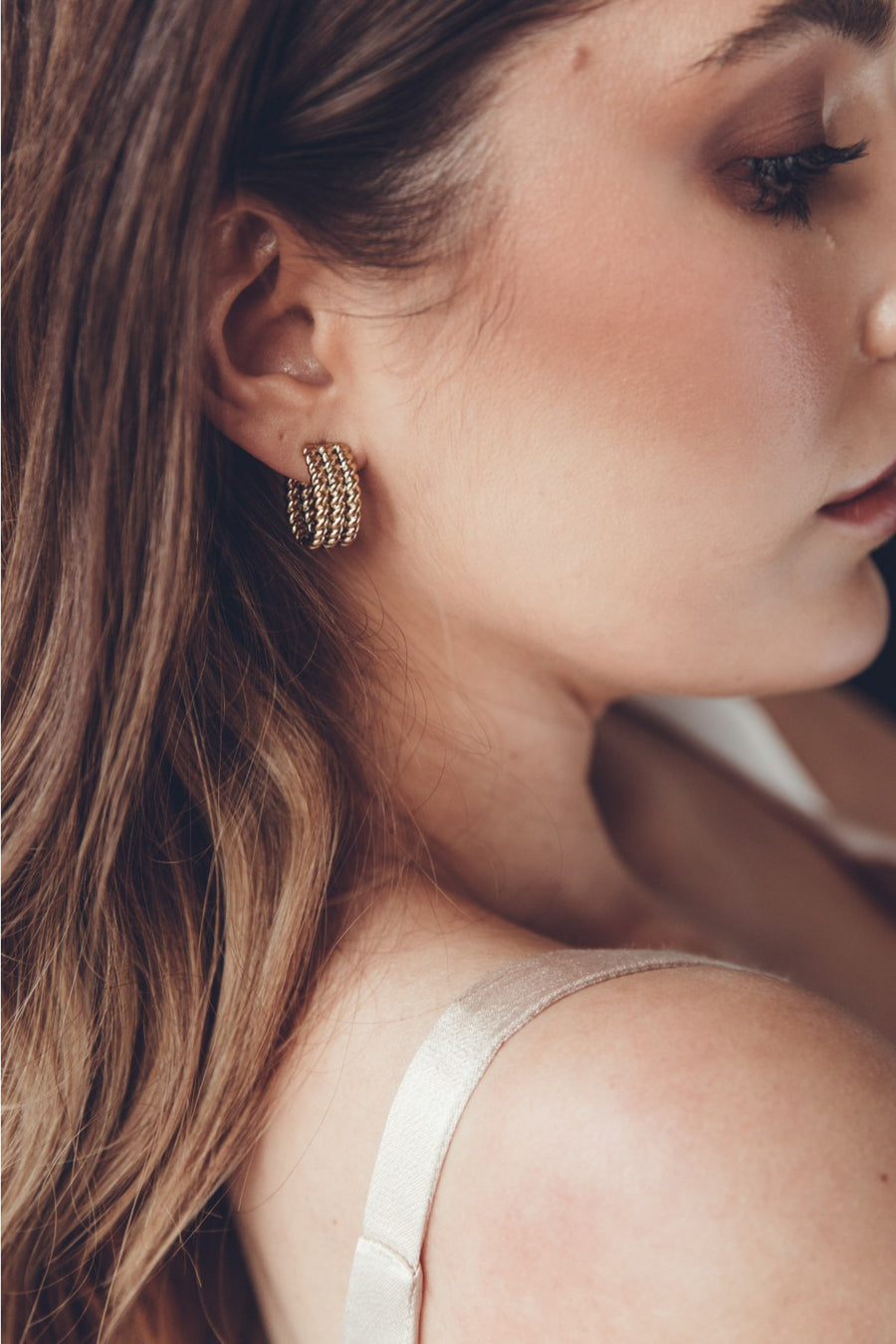 Halcyon Earrings Gold