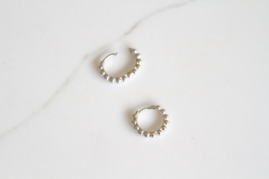 Havana Earrings Silver