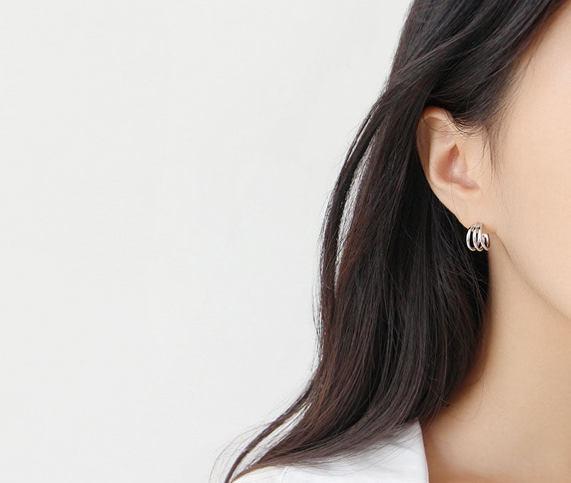 Athena Earrings Silver