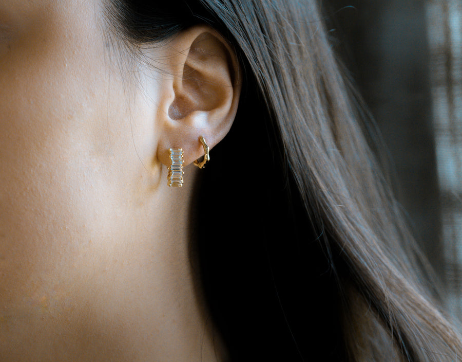 Cascade Earrings Gold