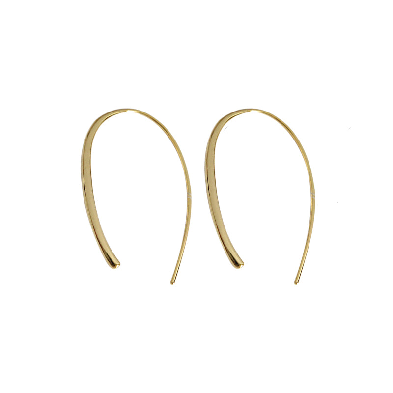 Wishbone Earrings Gold