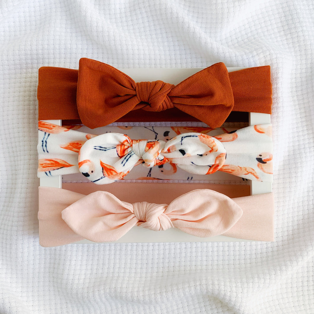 Knot Bow Headband set - Autumn Picnic