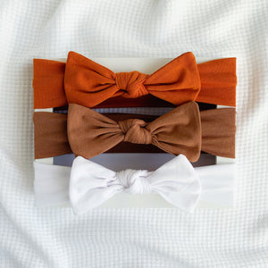 Knot Bow Headband set - Nice and Neutral