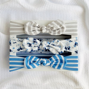 Knot Bow Headband set - Puppy Love
