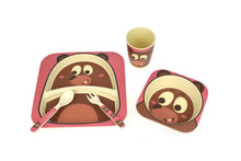 Load image into Gallery viewer, Bamboozoo 5pcs Dinnerware Set - Bear