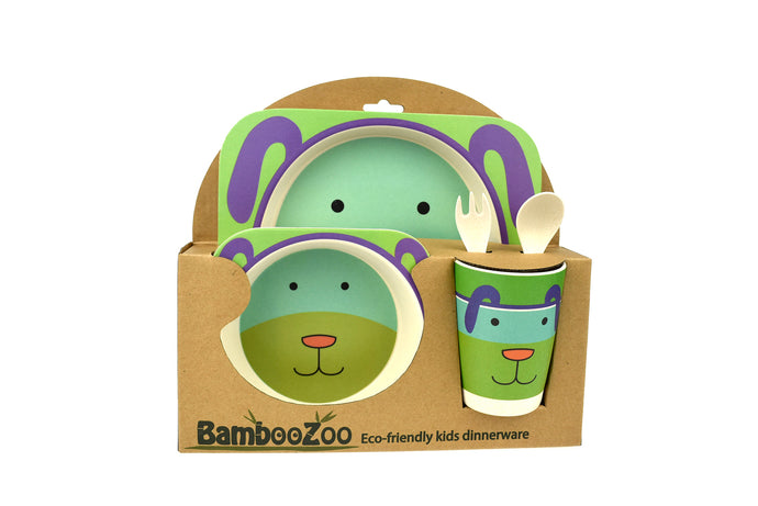 Bamboozoo 5pcs Dinnerware Set - Dog