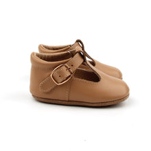 Load image into Gallery viewer, 'Florence' Leather T-Bar Shoes (Latte) - soft sole pre-walkers