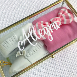Allegra Amore gift box - personalised baby girl keepsake gift box