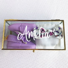 Load image into Gallery viewer, Amelia Amore gift box - personalised baby girl keepsake gift box