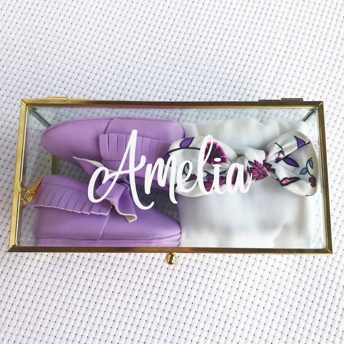Amelia Amore gift box - personalised baby girl keepsake gift box