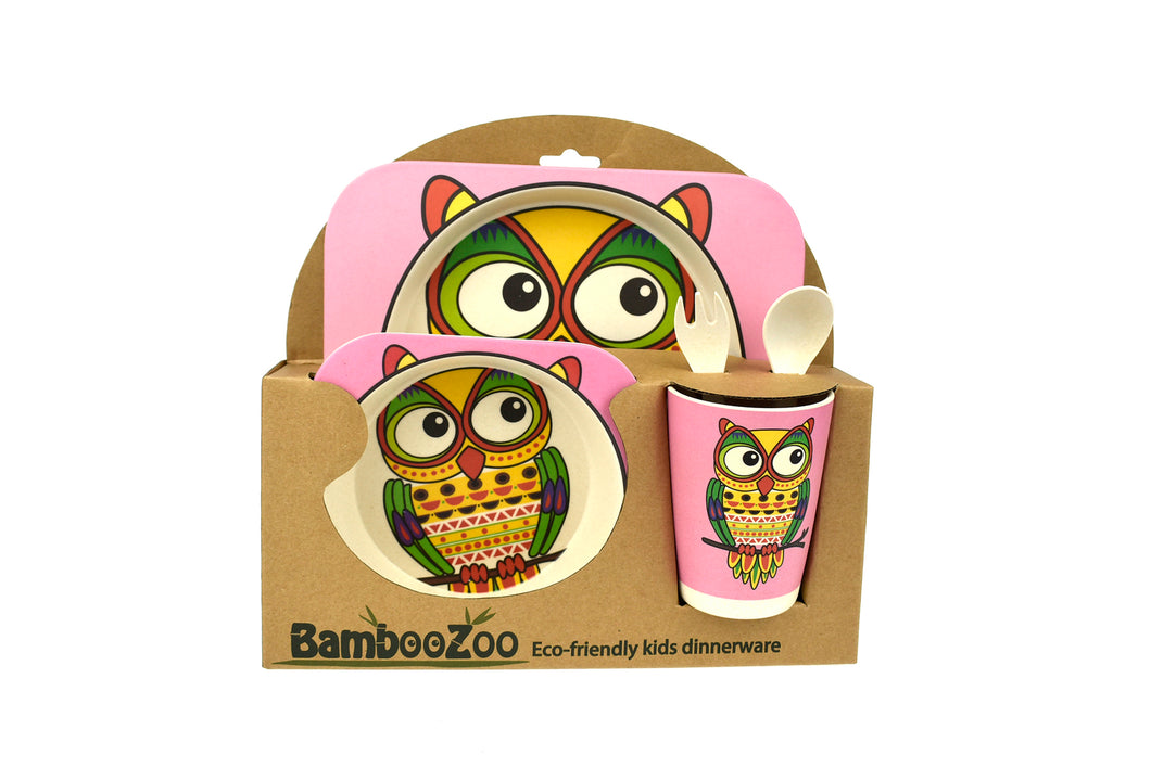 Bamboozoo 5pcs Dinnerware Set - Owl